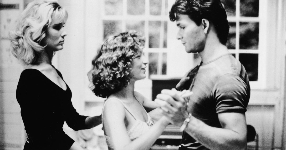 clip from the movie Dirty Dancing of Penny and Johnny teaching Baby how to dance